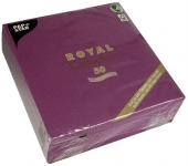Servietten ROYAL Collection 40 cm x 40 cm lila 50er Pack