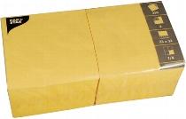 Servietten 33 cm x 33 cm gelb, 250 Stück, 3-lagig 1/4-Falz