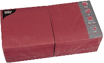 Servietten 33 x 33 cm 3-lagig 50er Pack bordeaux