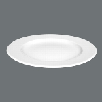 Teller flach 28 cm weiß, Meran