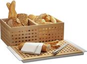 Brot-, Brötchen- und Brezelpräsentation