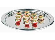Platten oval aus Edelstahl